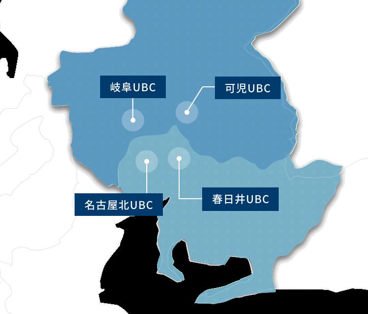 ユニットビルドセンター営業所マップ